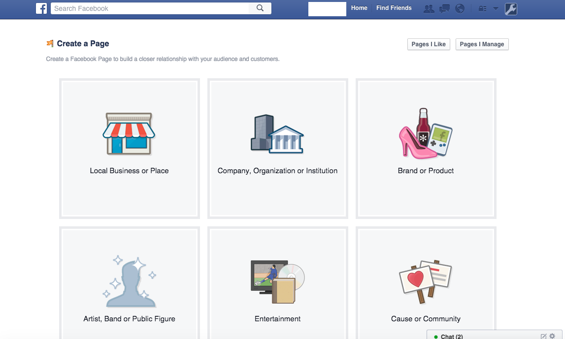 Choose the Business for Your Facebook Store