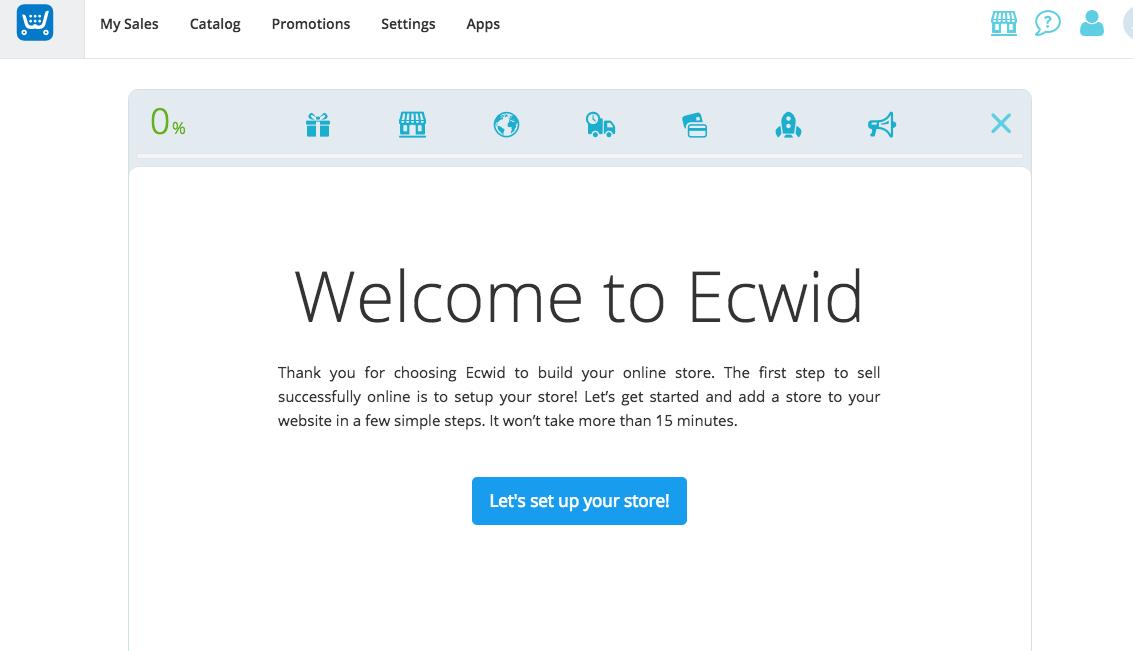 Create an Ecwid Store