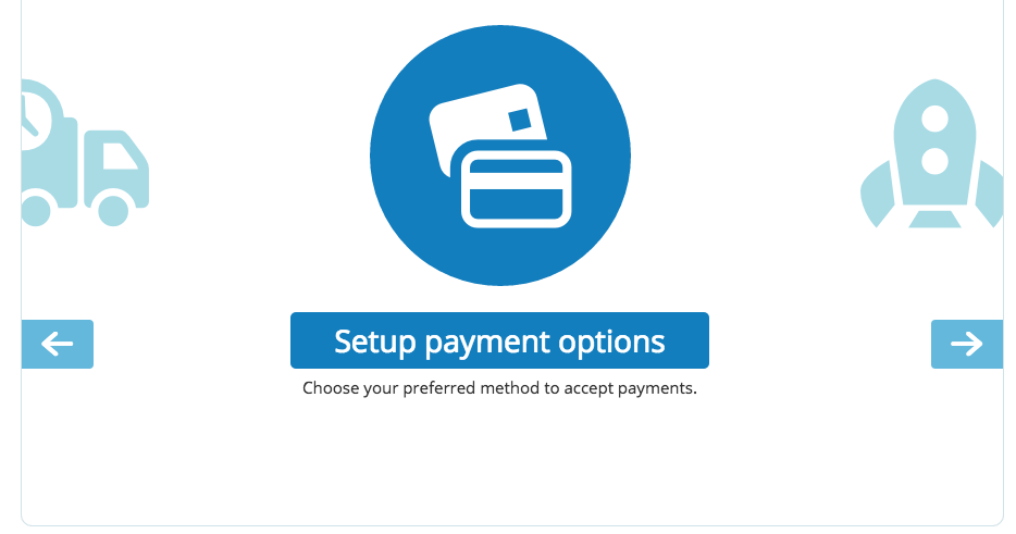 Set up payment options