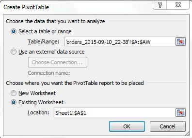 4 - Excel Pivot Popup