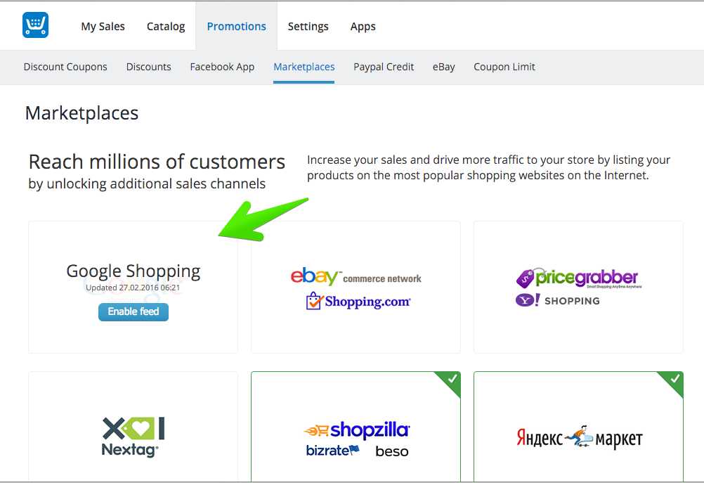 Add your products from Ecwid to Google Shopping