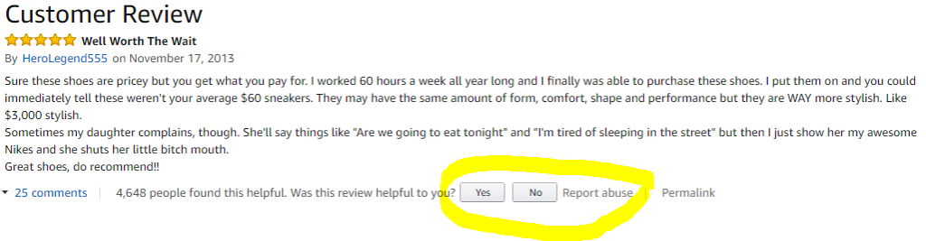 Deleting an unfair review