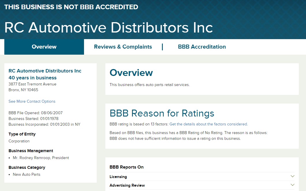 Search for the distributor on sites such as BBB.org and Google to see what others think about them