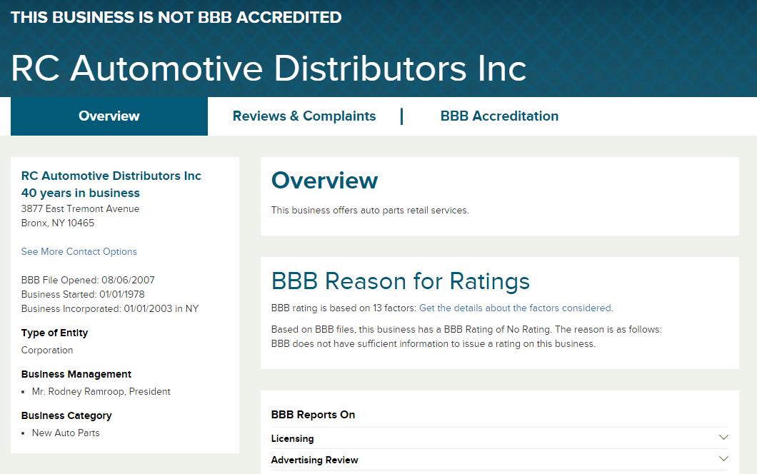 Zoeken naar de distributeur op sites zoals BBB.org en Google om te zien wat anderen over hen denken