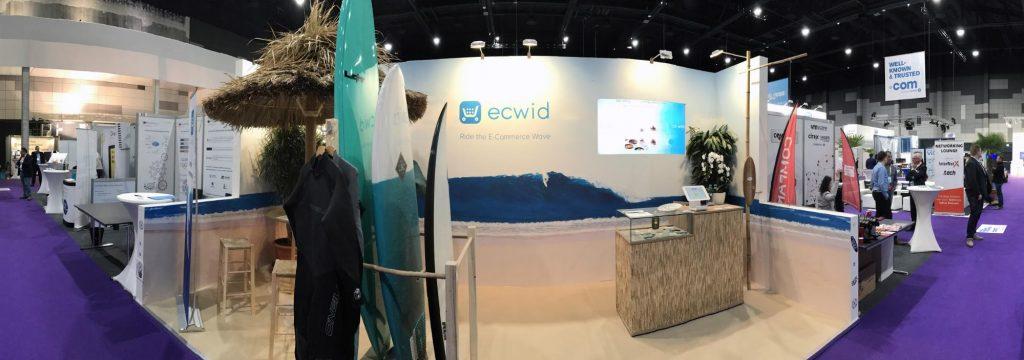 Ecwid's omnichannel booth
