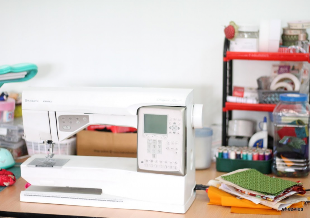 máquina de coser de Elvira