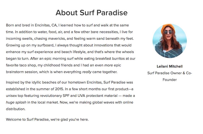 Gratis e-commerce website: tentang kami bagian