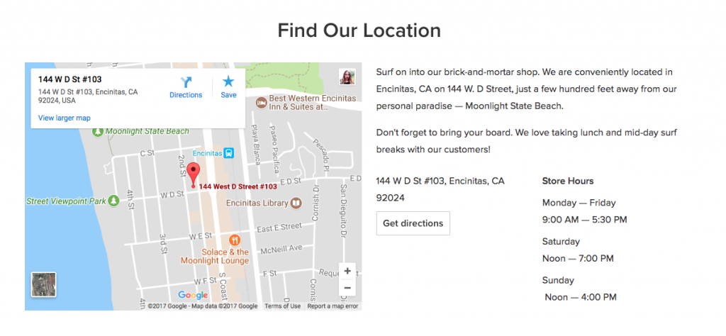 Gratis e-commerce website: routebeschrijving