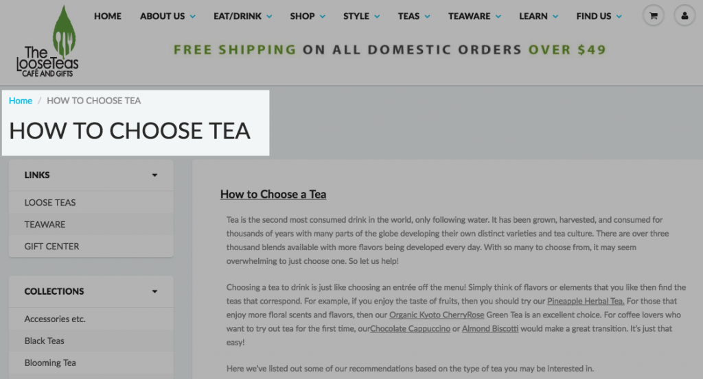 How to choose tea guide