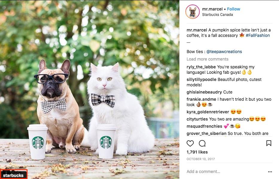 Tag brands on Instagram