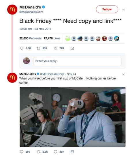 McDonalds tweet