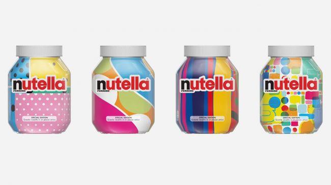 Nutella nuovo 80s di branding