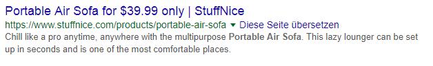 Organische zoekresultaten zonder reviews