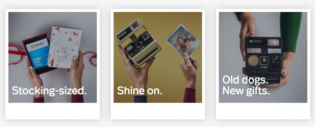 Polaroid marketing images