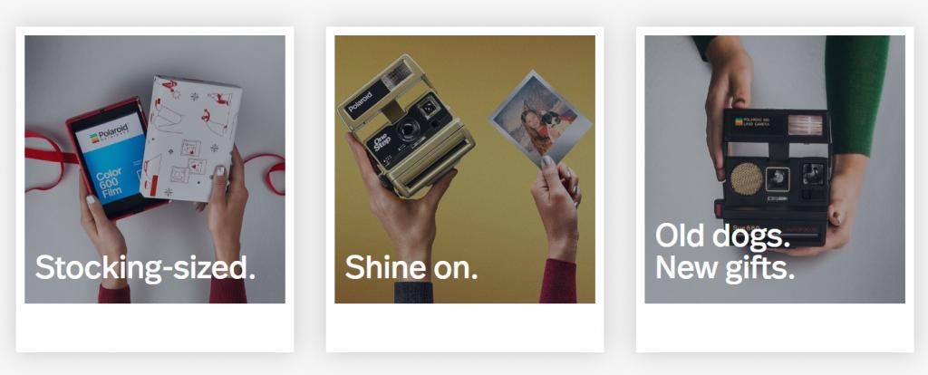 immagini di marketing Polaroid