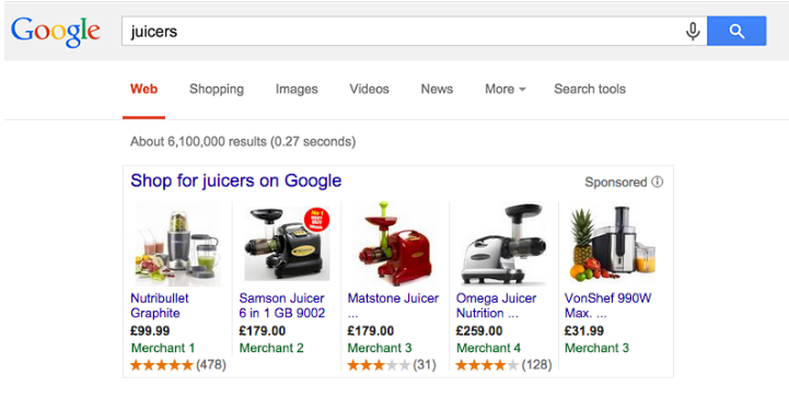 Reviews on Google Shopping