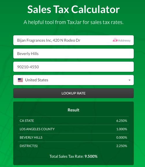 Sales Tax Calculator