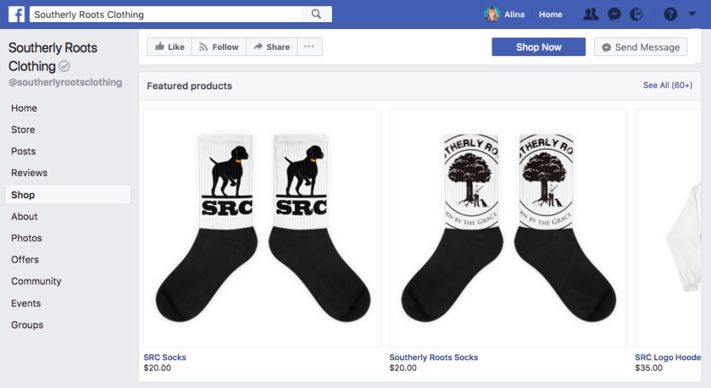 Vente sur Facebook