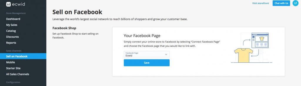 Sell on Facebook with Ecwid