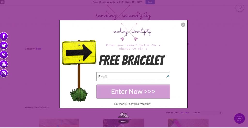 Senden Serendipity E-Mail-Popup