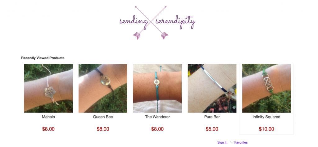 Senden Serendipity Online-Shop