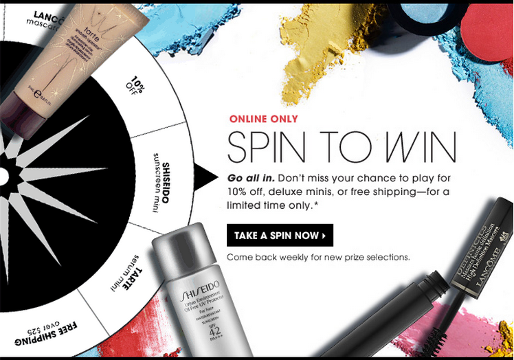 Sephora discount wheel