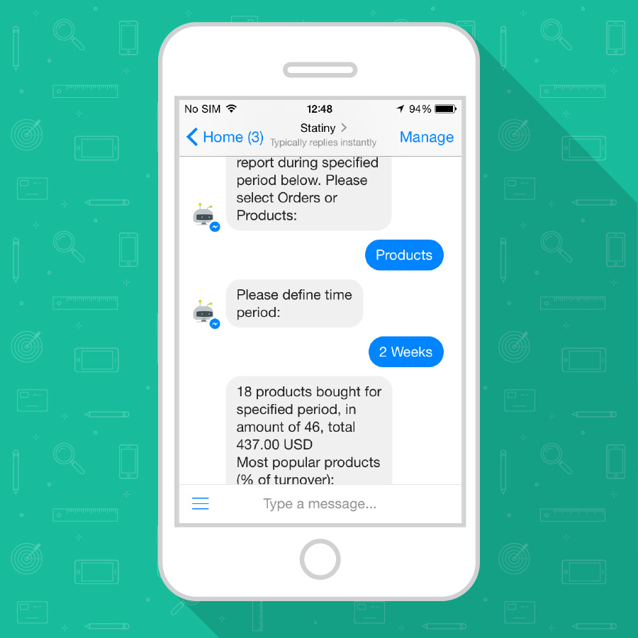Chatbot Statiny para FB mensajero
