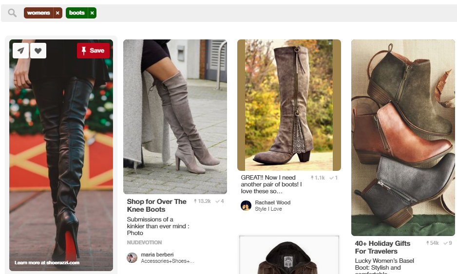 e-commerce keyword search on pinterest