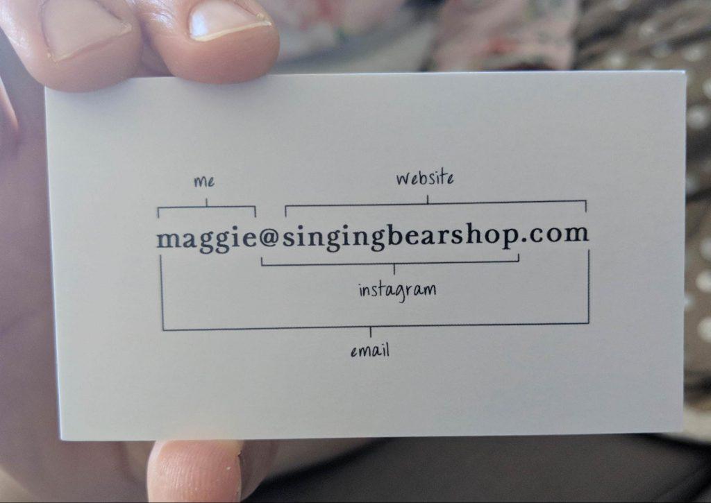 kreative Visitenkarte Beispiel