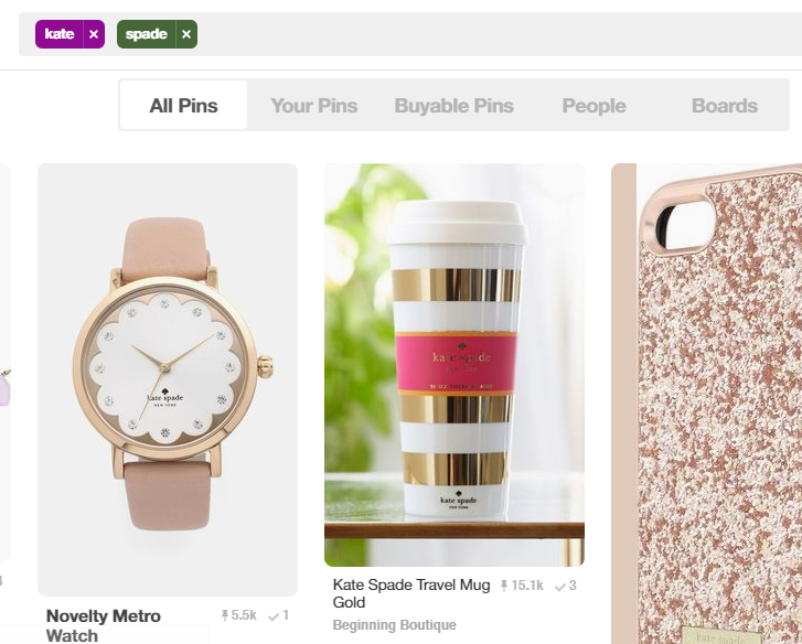 Keyword search for your competitor on Pinterest