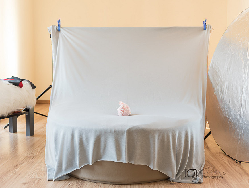 knitted backdrop for product photography