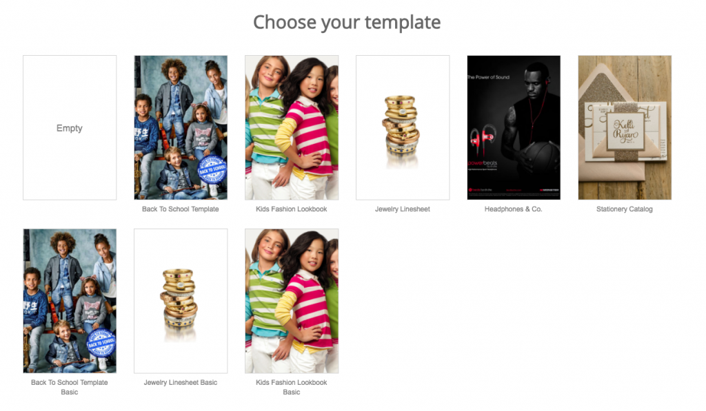 now in store templates