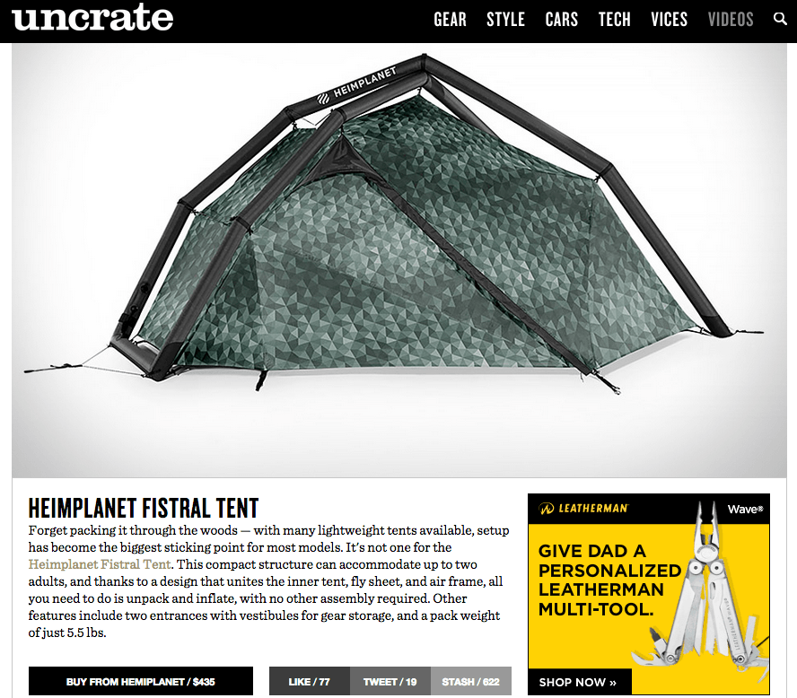 Heimplanet Fistral Tent   Uncrate