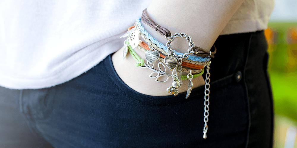 bracelets on hand