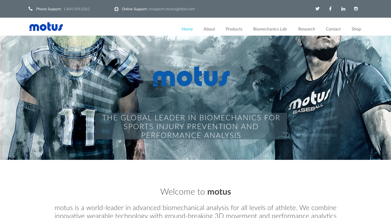 Магазин товаров для спорта Motus Global