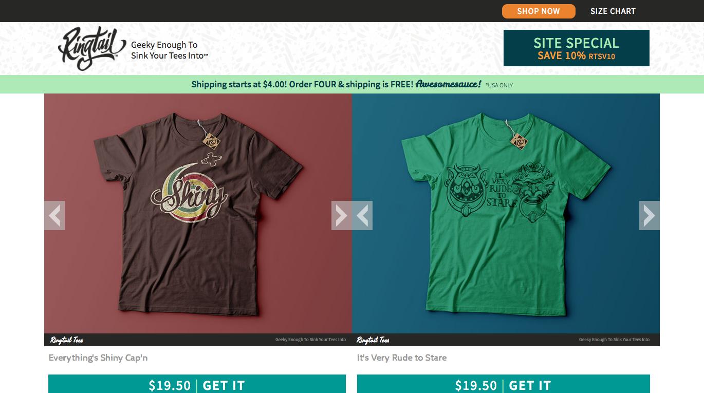 Интернет-магазин футболок Ringtail