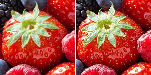 повышение резкости изображения: до и после